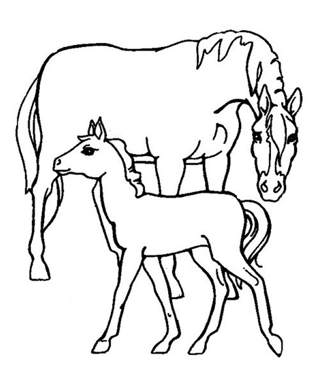 horses coloring pages. horse farm coloring pages