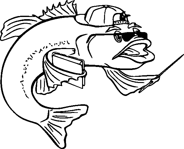 fish coloring pages 3 - Fish Coloring Pages 2