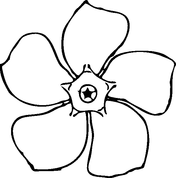 coloring pages of a flower - photo#4