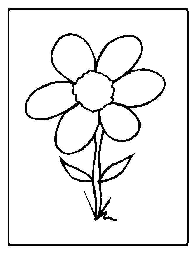 coloring pages of a flower - photo#1