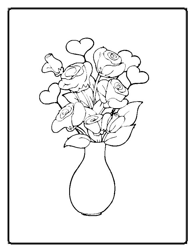 coloring pages about flowers - photo#22