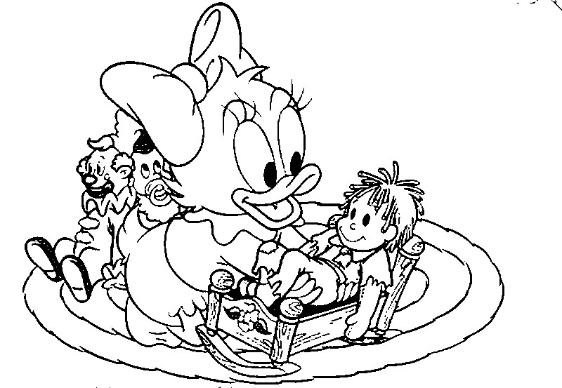 Free Coloring Pages Baby Disney Characters : Baby disney character coloring pages