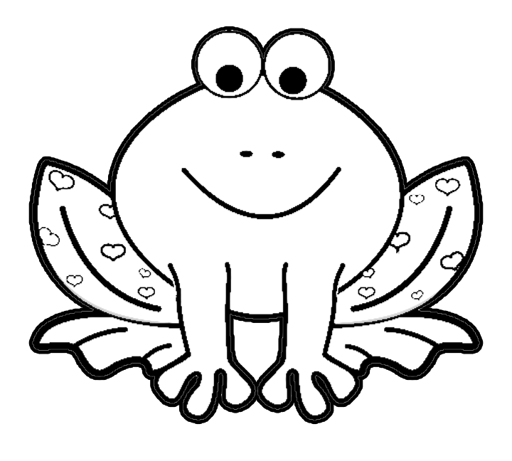 coloring pages frog - photo#1