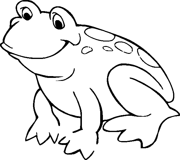 coloring pages frog - photo#4