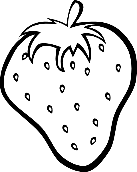 fruit coloring pages 6 - Fruit Coloring Page