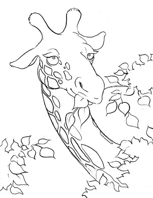 Giraffe Coloring Pages 2