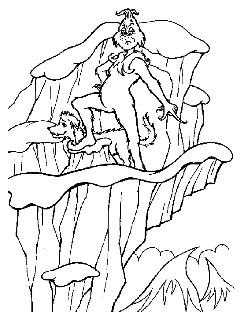 Grinch Coloring Pages 2 Coloring Pages To Print The Grinch Coloring Pages