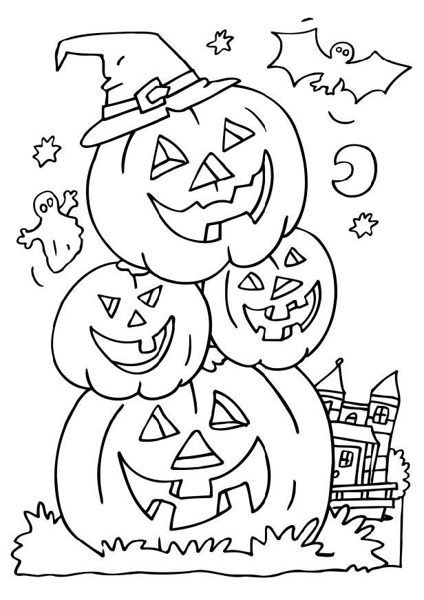 Halloween Coloring Activity Pagejpg LONG HAIRSTYLES