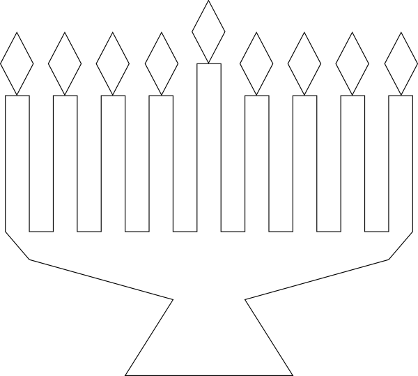 menorah coloring page kindergarten images