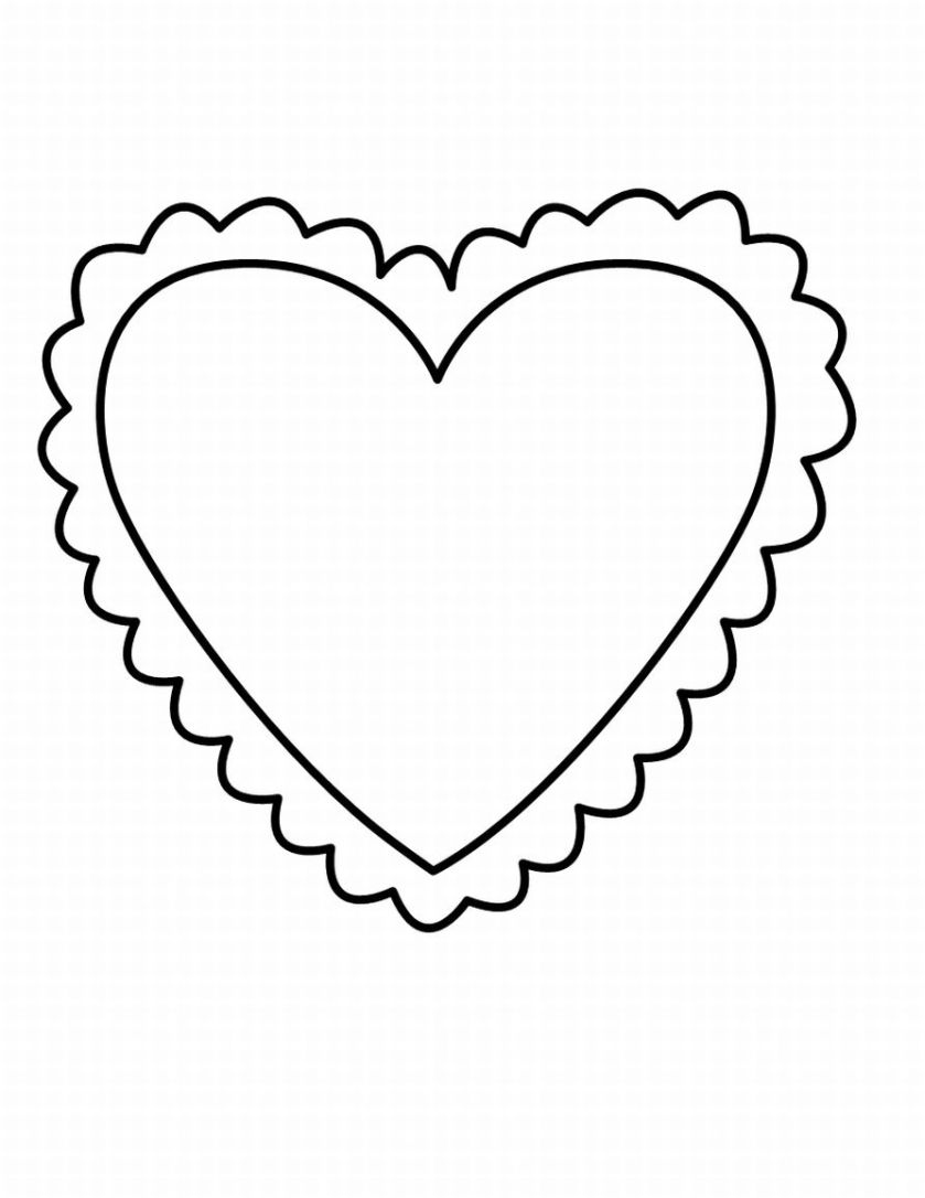 the heart coloring pages - photo #7