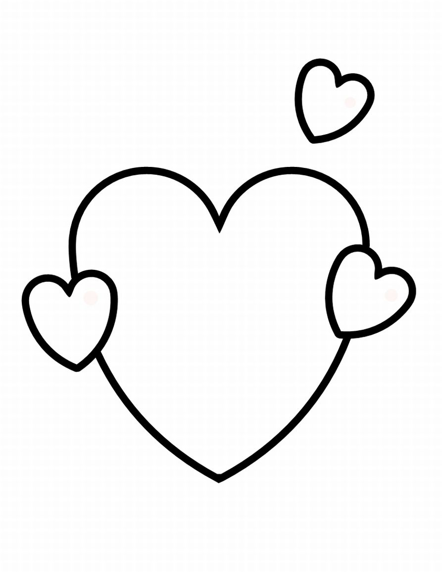 the heart coloring pages - photo #25