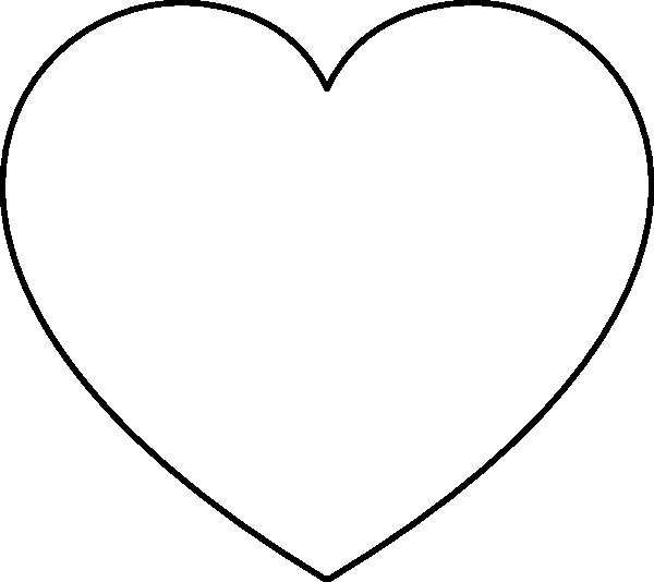 the heart coloring pages - photo #15
