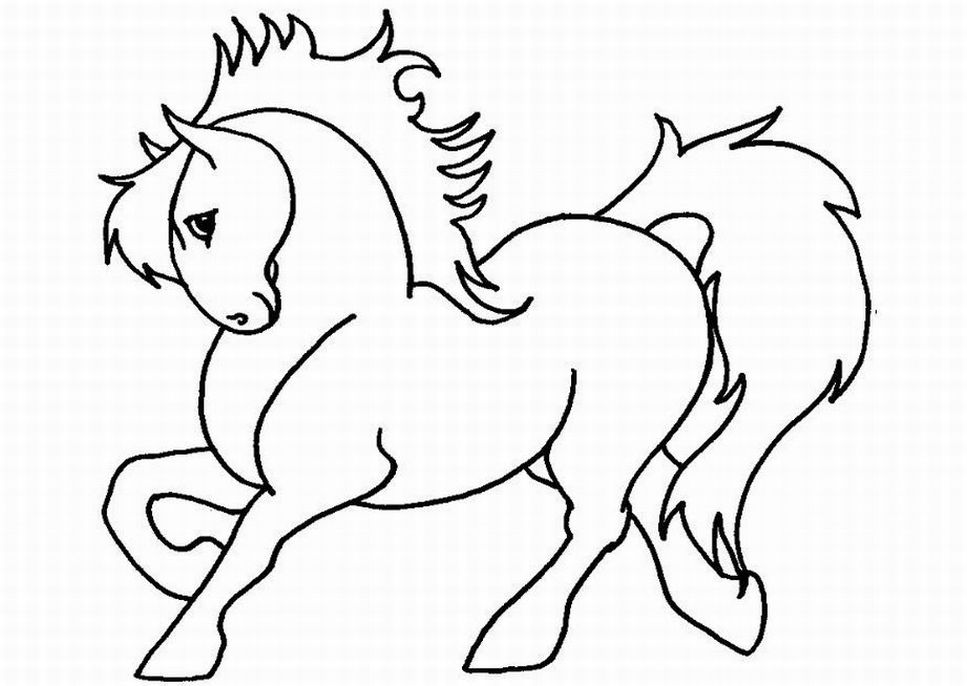 coloring pages horse - photo#11