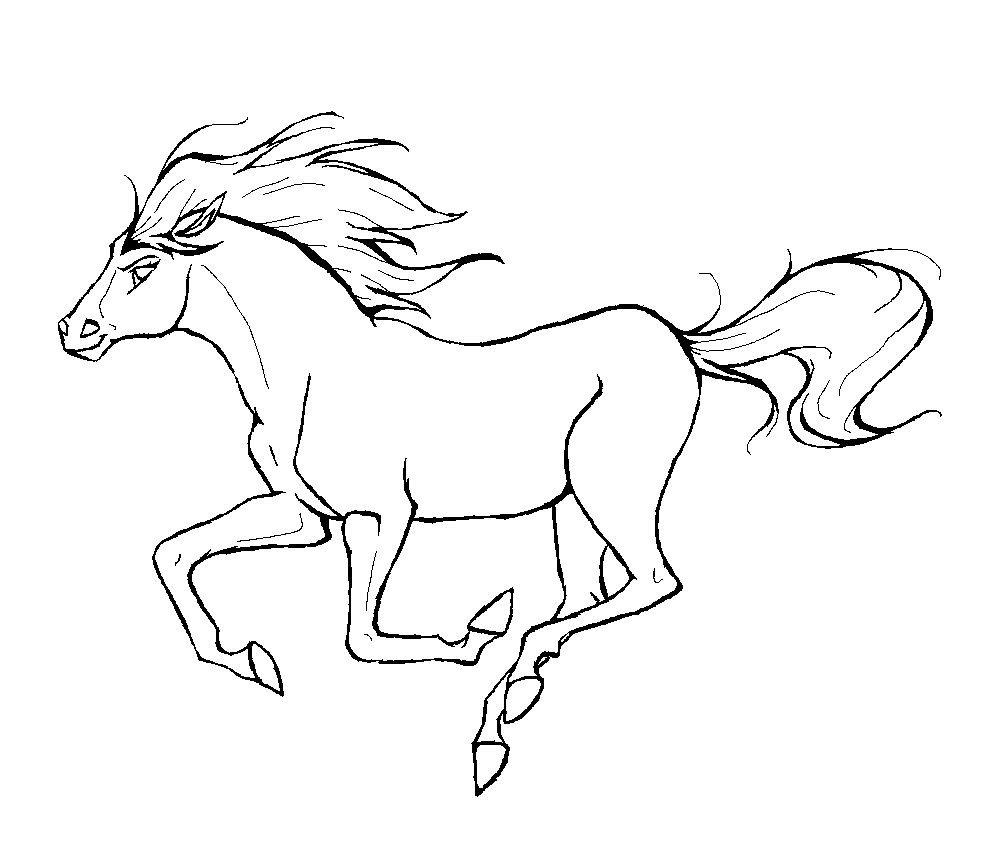 coloring pages printable horses | Horse Coloring Pages to Print | Coloring Pages To Print