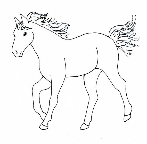 Horse Coloring Pages Coloring Pages To Print Horses Coloring Pages