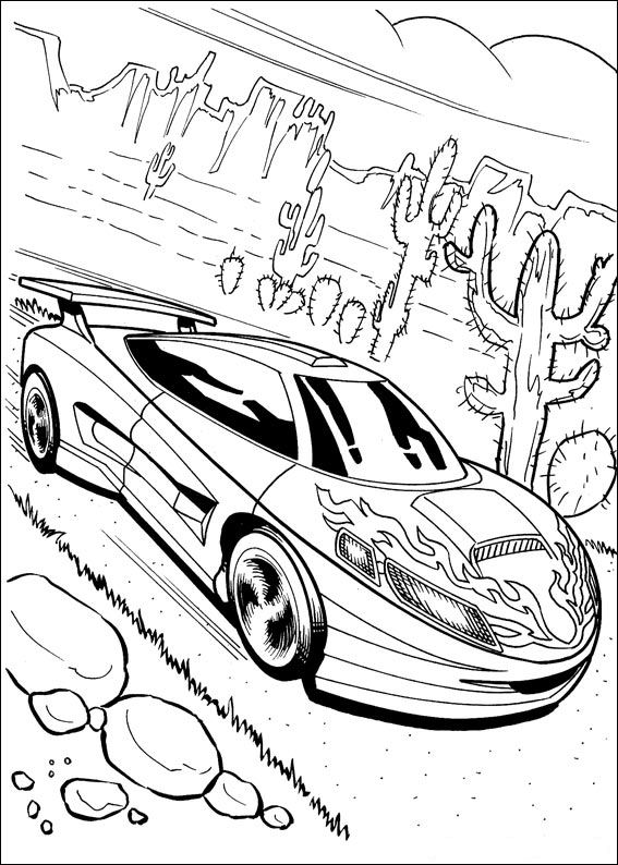 hot wheel coloring pages - photo#10