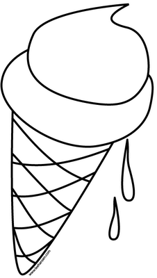 ice cream coloring pages