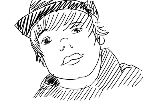 justin bieber coloring pages 4