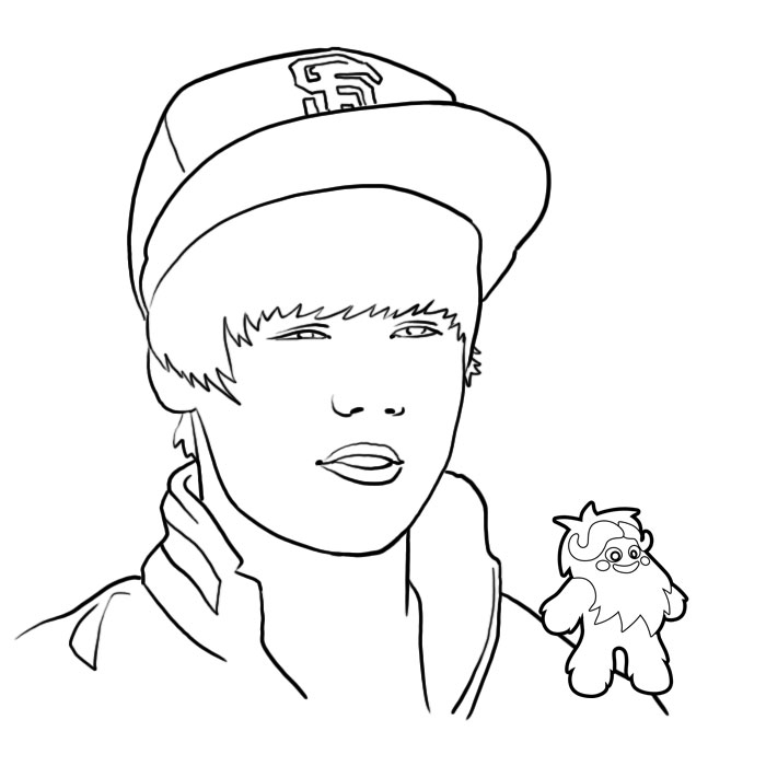 Justin Bieber Colouring Pages | Coloring Pages To Print