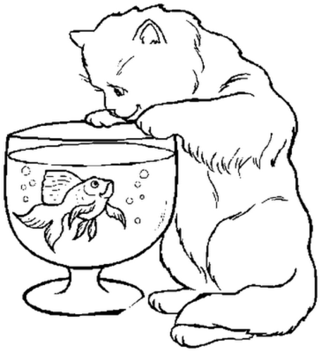 coloring pages of kittens-#28