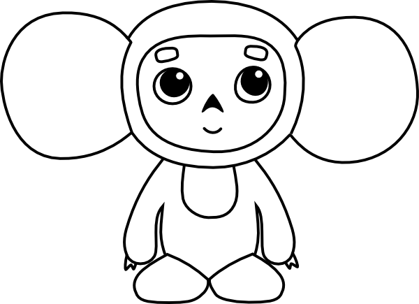 monkey coloring pages 2