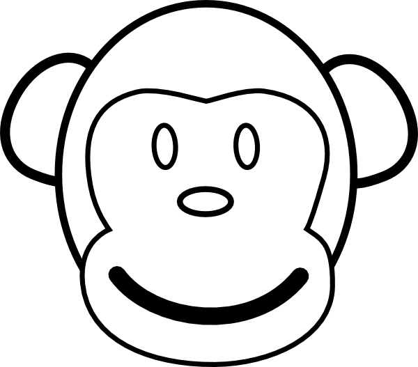 monkey coloring pages 5