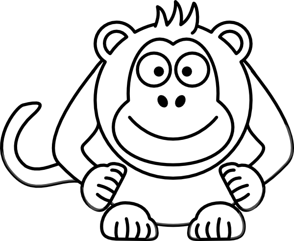monkey coloring pages 2 coloring pages to print