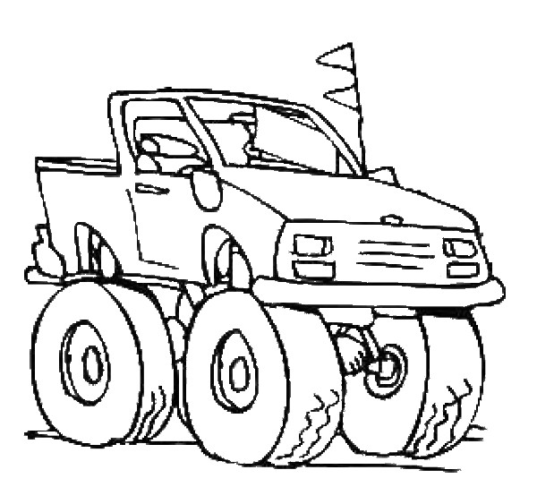 Monster Truck Coloring Pages Coloring Pages To Print Coloring Pages For Boys Trucks Printable