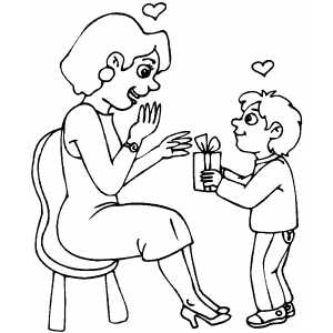 Mothers day coloring pages 2 coloring pages to print for Giving coloring pages