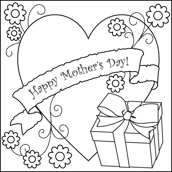 Coloring Pages Mothers Day : Mothers day coloring pages to print