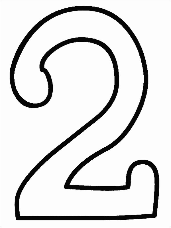 Number 3 Coloring Pages numbers coloring part 2 the number 3