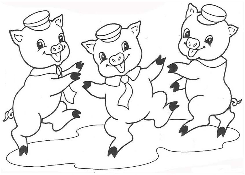 free coloring pages of pigs - photo#33