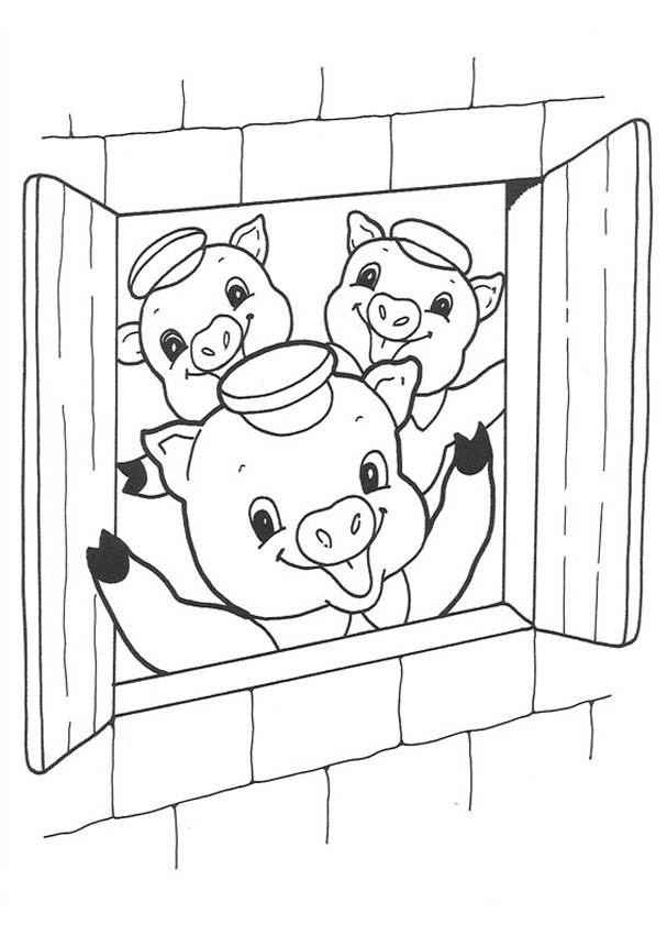 Pig Coloring Pages Coloring Pages To Print Three Pigs Coloring Pages