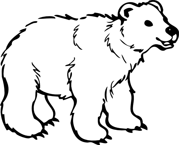polar bear coloring pages preschool - photo#27