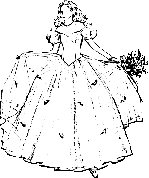 Real Princess Coloring Pages : Real princess coloring pages well dressed