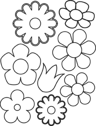 roses coloring pages - Small Coloring Books