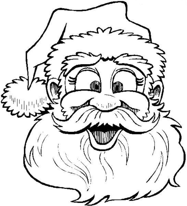 coloring pages with santa - photo#29