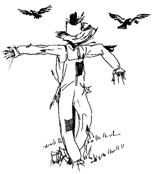 scarecrow coloring pages 4