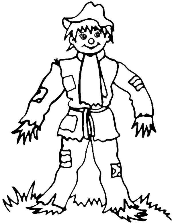 scarecrow coloring pages autumn - photo#7