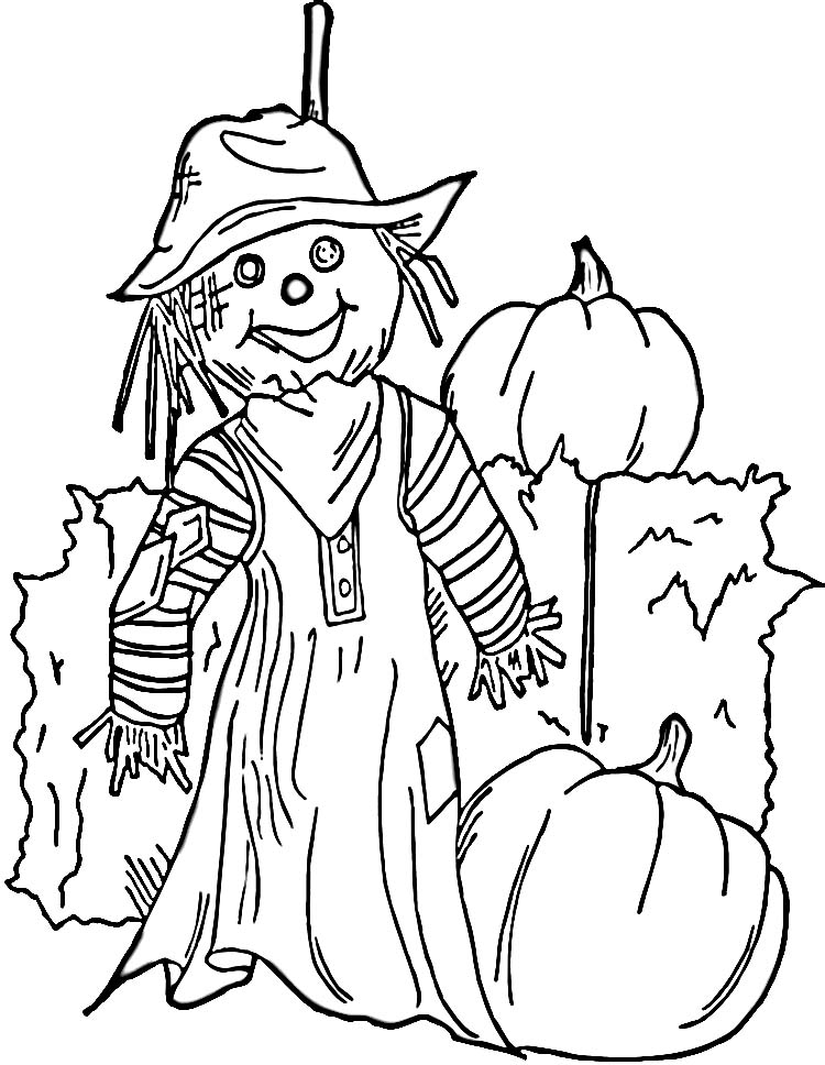 s is for scarecrow coloring pages - photo #18