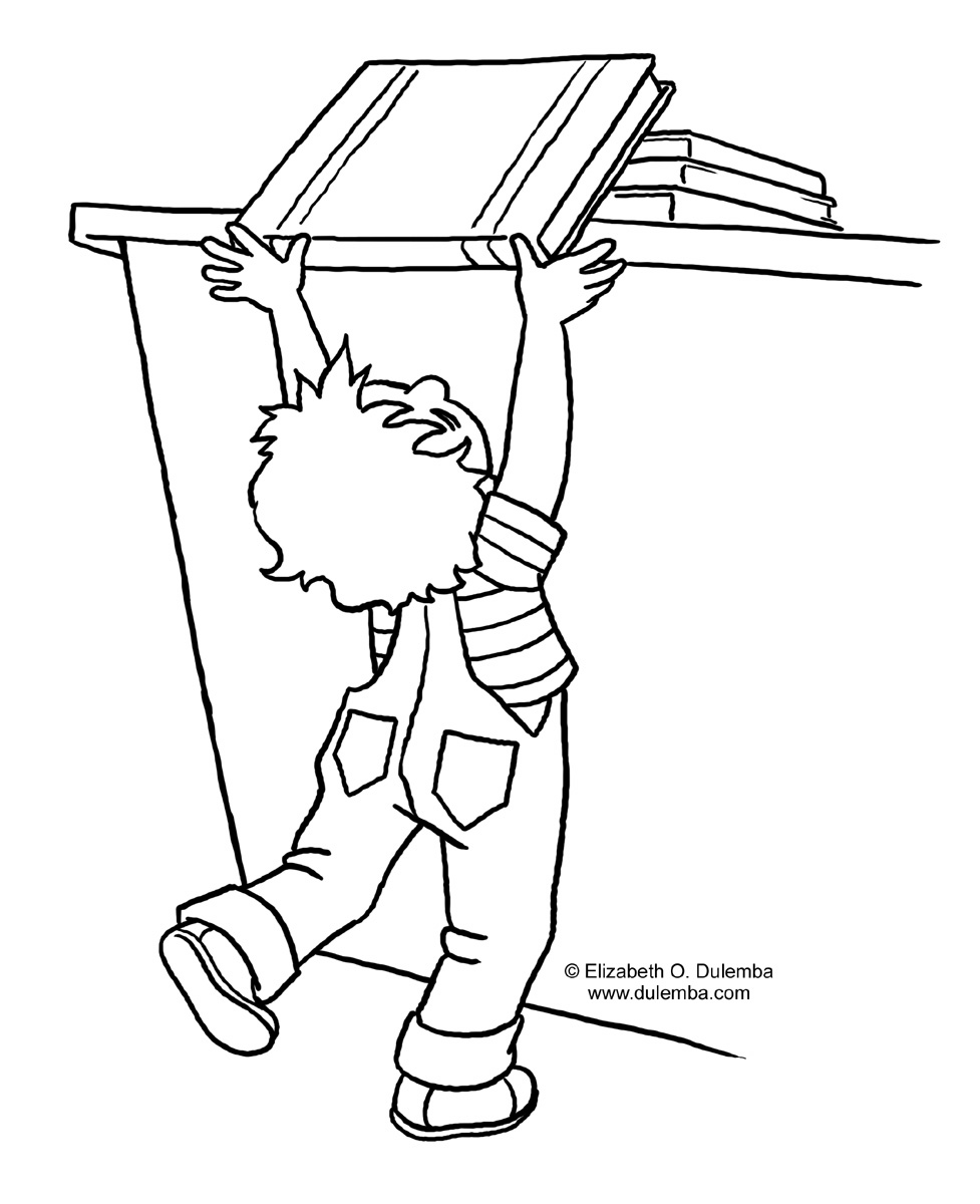book return school coloring pages - Book Coloring Page