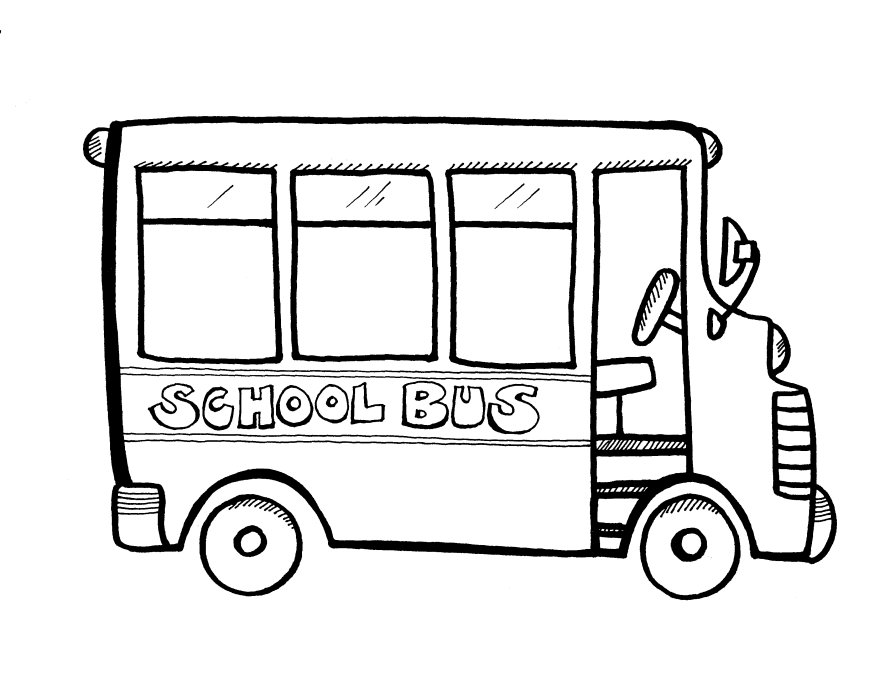 Bus safety coloring book coloring pages for School bus coloring page