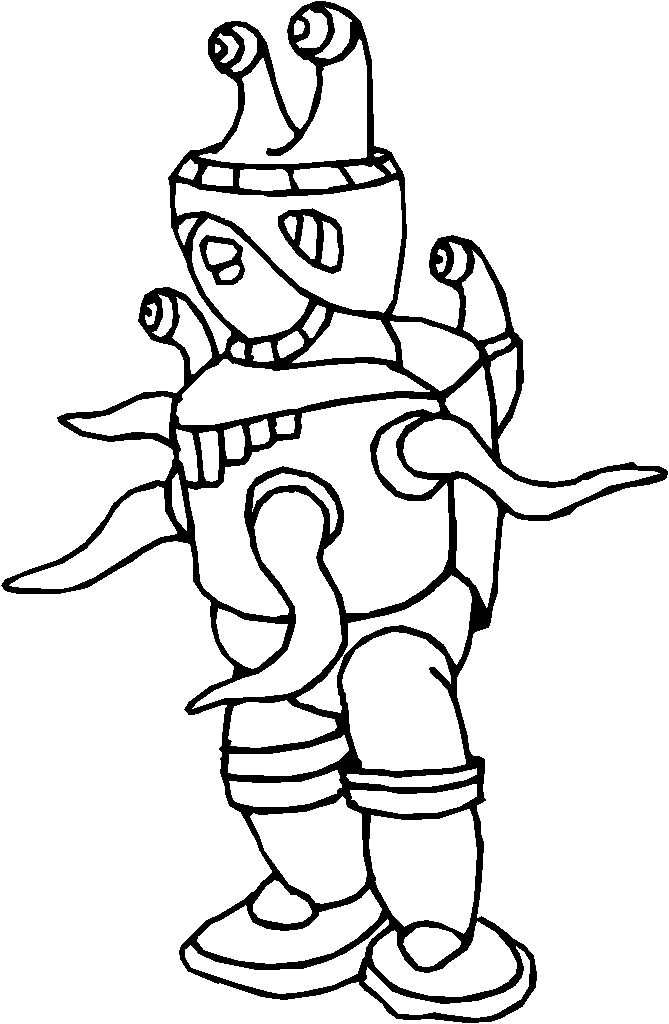 Child Scientist Coloring Page