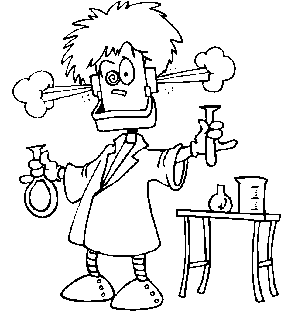 Science coloring pages 8