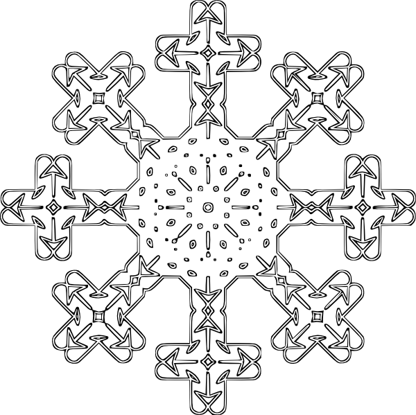 Snowflake Coloring Pages 3   Coloring Pages To Print