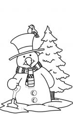 snowman coloring pages 8