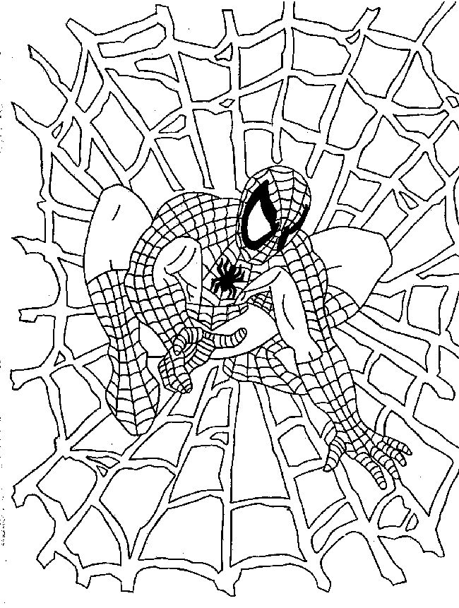 mini coloring pages spiderman - photo#31