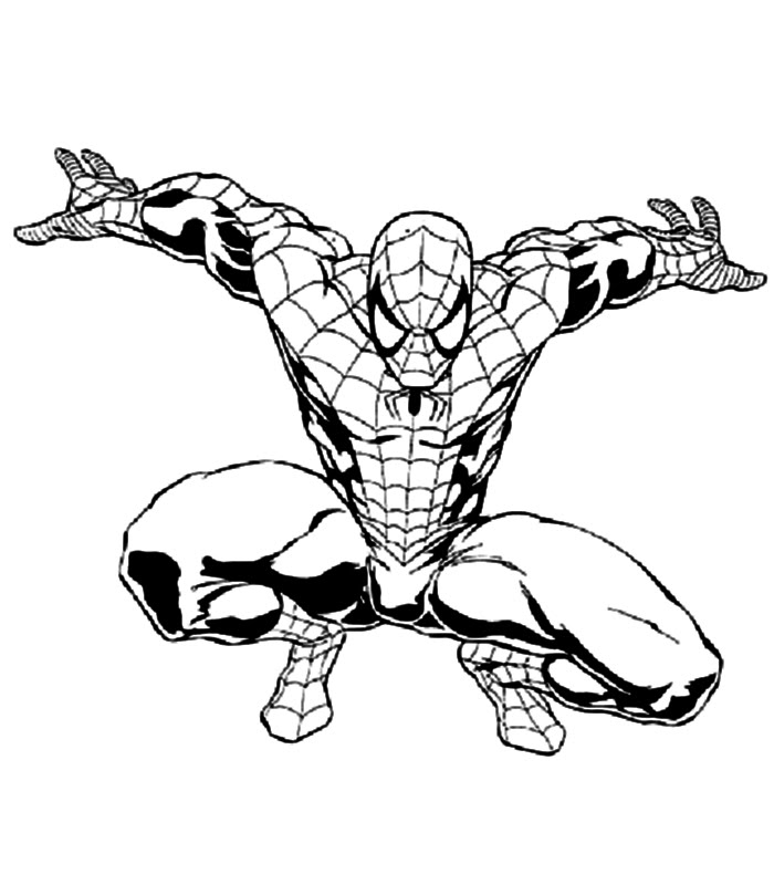 Spiderman colouring pages coloring pages to print for Disegni da colorare spiderman 3