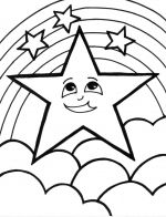 rainbow star coloring pages