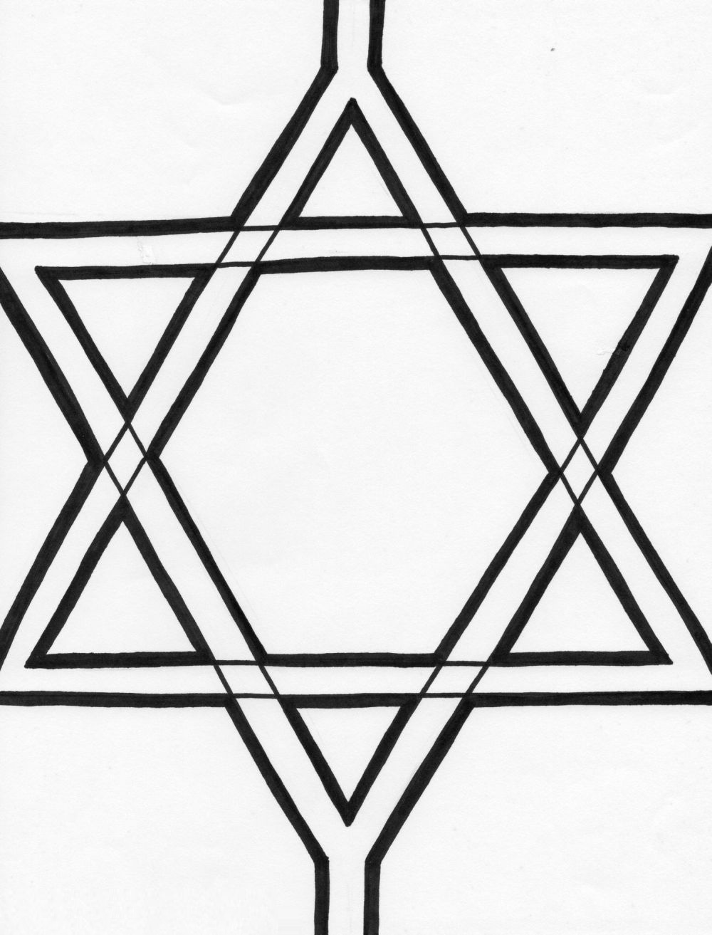 David star holocaust coloring pages for Star of david coloring page